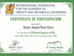 Dr. Hector Perez - Certificate